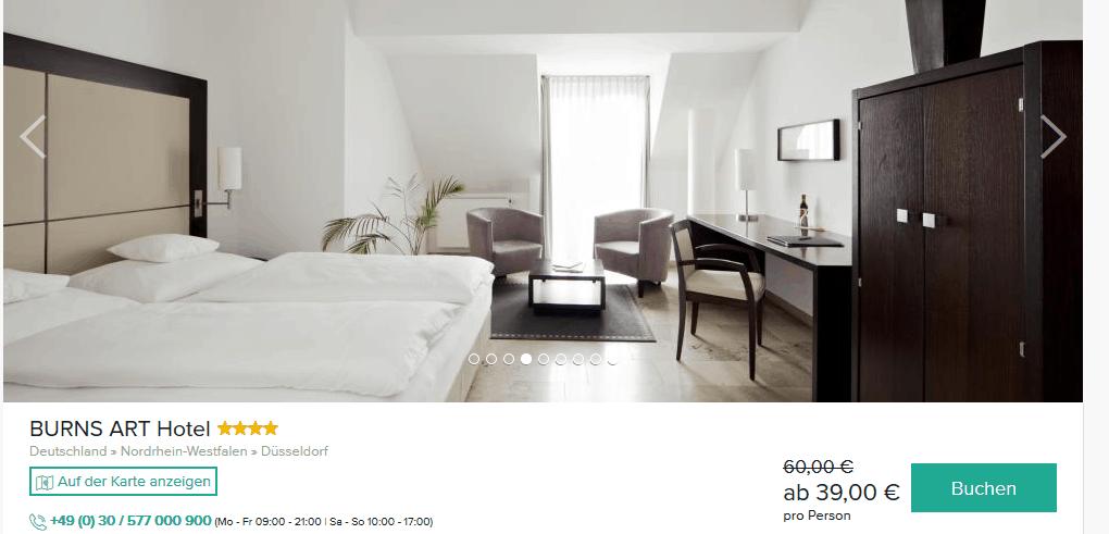Screenshot Deal Düsseldorf Städtereise ab 39,00€ p.P in NRW's Hauptstadt