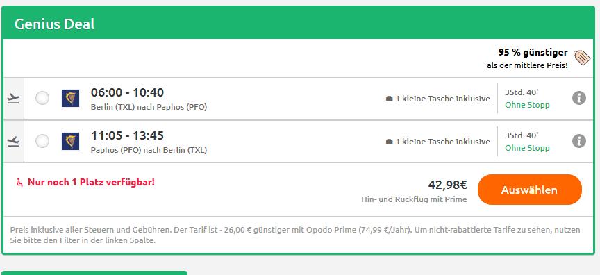 Screenshot Deal Kato Urlaub - Paphos eine Woche ab 50,00€ Zypern Deal