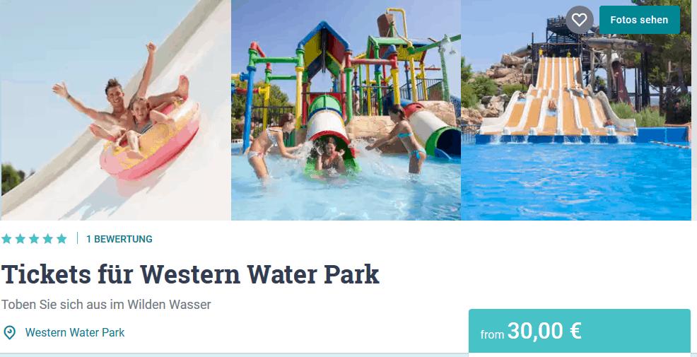 Screenshot Deal Western Water Park nur 30,00€ Wasser Park Magaluf