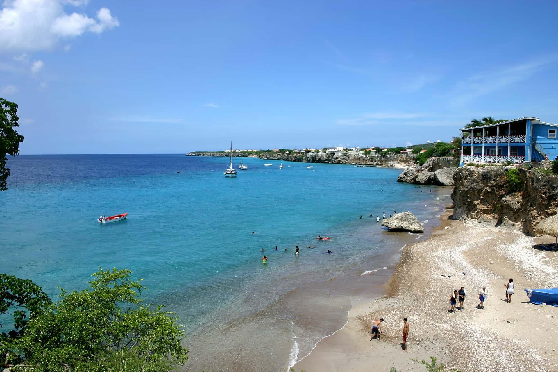 Sint Maarten Tauchen in auf der Insel Curacao in der Karibik