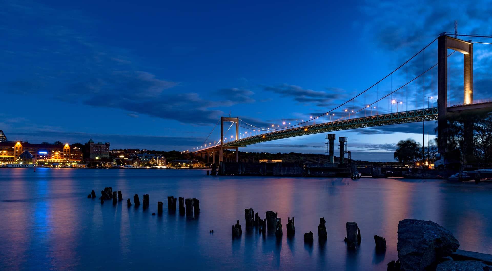 alvsborgsbron Brücke bei Nacht - Städtereisen Göteborg