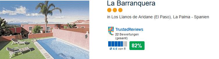 Günstigste Pauschalreise nach La Palma in das drei Sterne Hotel Barranquera für eine Woche