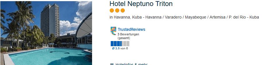 Hotel Neptuno Städtereise Havanna
