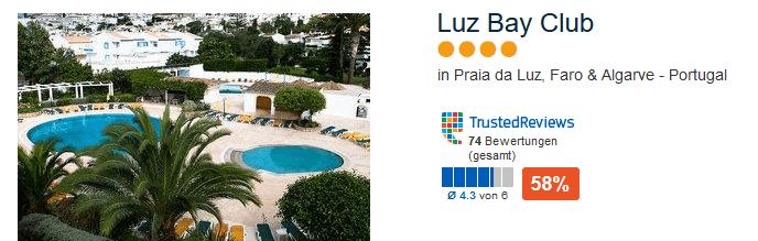 Luz Bay Club 4 Sterne bei Faro Südküste Portugals
