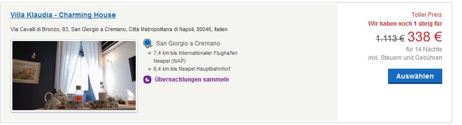 Screenshot Hotel Deal für 2 Personen - Solo Reise ab 198,00€ Hotel