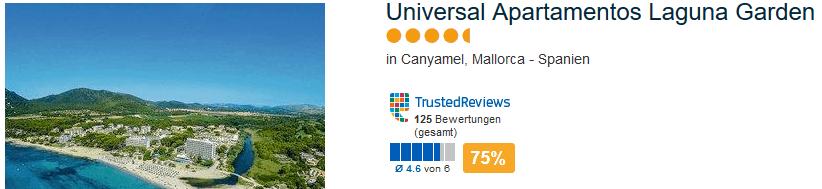 Universal Apartamentos Laguna Garden in Canyamel auf Mallorca - 4,5 Sterne Unterkunft