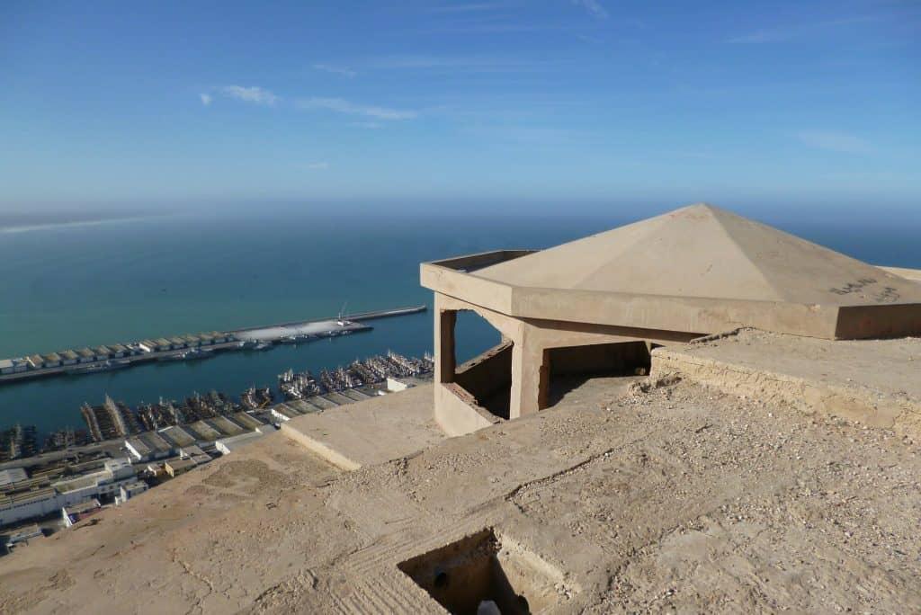 Urlaub Agadir der Hafen bietet beste Aussicht über die Promenade und den Ort