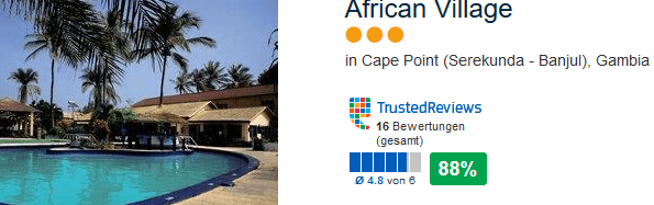African Village drei Sterne Hotel in Cape Point am Serekunda Beach