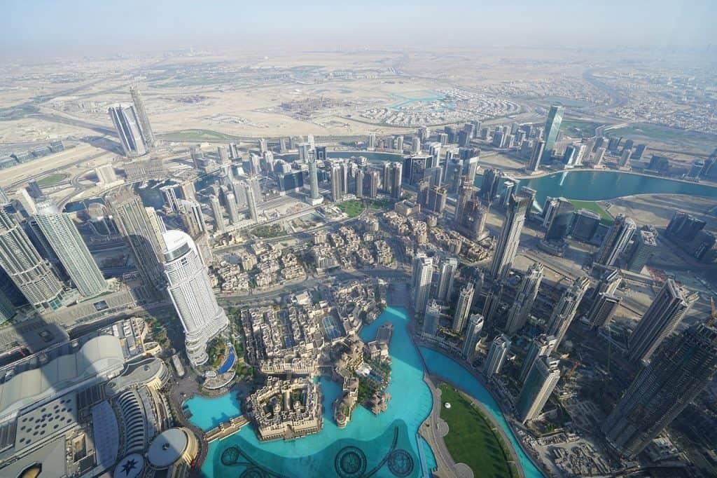 Aussicht vom Burj Khalifa - das höchste Gebäude der Welt