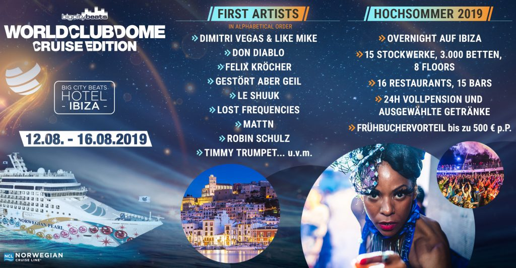 Big City Beats Line up - World Club Cruise Edition