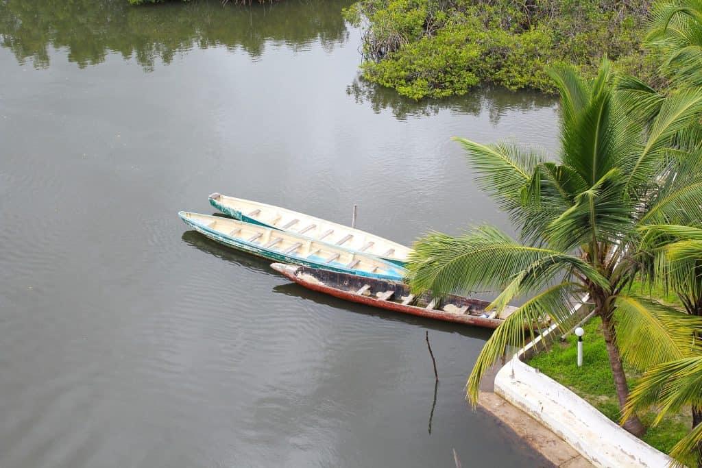 Das Herz des Landes der Gambia River von dem die Einheimischen Leben