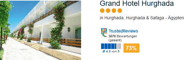 Grand Hotel Hurghada 4 Sterne Anlage direkt am feinsandigen Strand