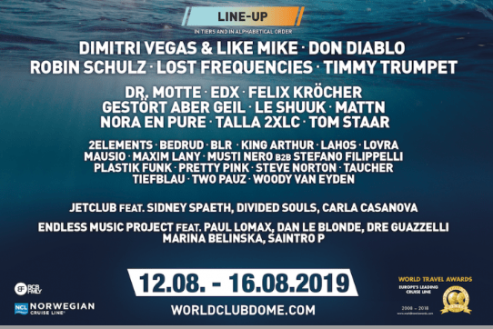 Line up Screenshot WorldClub Dome