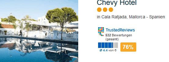 Mallorca - Chevy Hotel Cala Ratjada drei Sterne