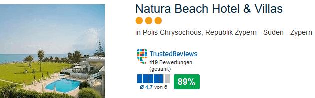 Natura Beach Hotel & Villas drei Sterne Hotel in Polis Chrysochous - Süd Zypern