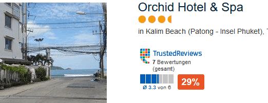 Orchid Hotel & Spa Phuket direkt am Patong Beach