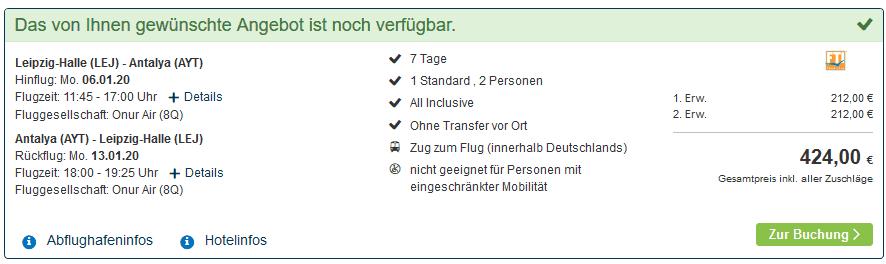 Screenshot Deal 5 Sterne - Side All Inclusive nur 212,00€ Trürkei