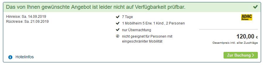Screenshot Deal Camping Bella 4 nur 60,00€ die Woche - Kammersberg Steiermark