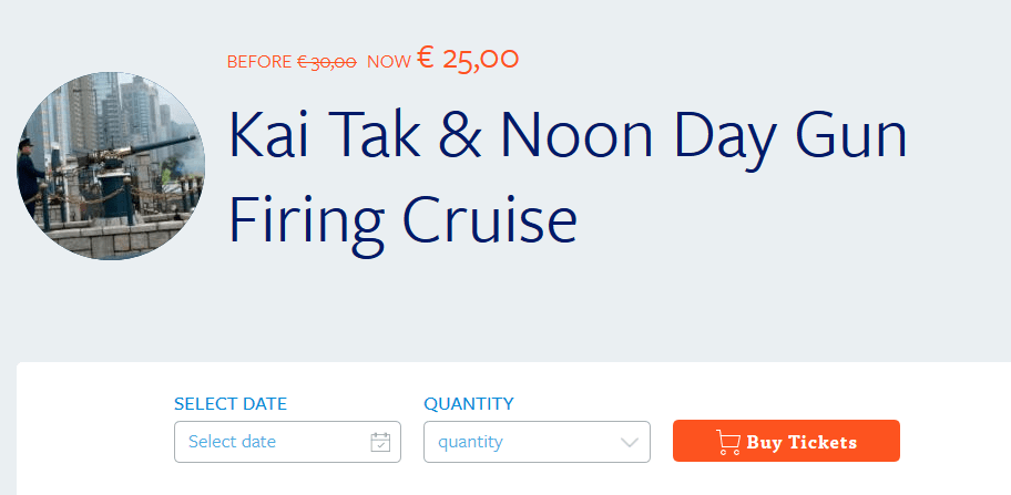 Screenshot Deal Hongkong - Kai Tak & Noon Day Gun Mini Kreuzfahrt nur 25,00€