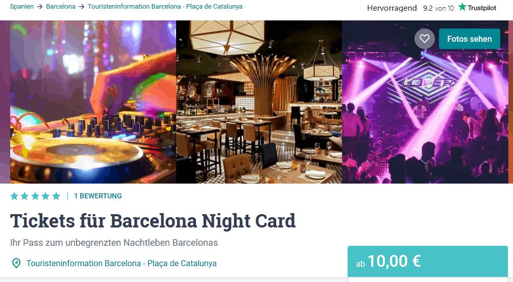 Screenshot Deal Nachtleben Barcelona - wo geht man am besten feiern