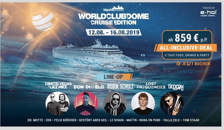 Screenshot Deal World Club Dome - Cruise Edition All Inclusive nur 859,00€
