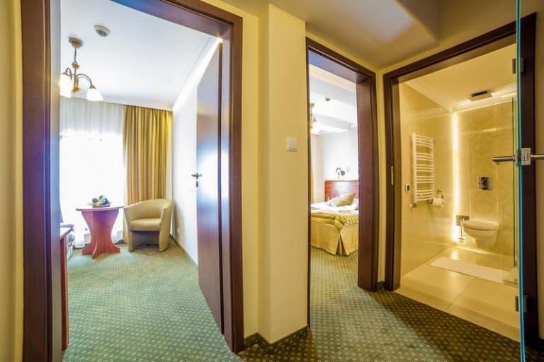 So sehen die Hotelzimmer im 4 Sterne Hotel aus