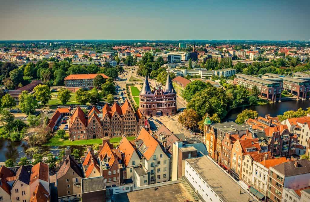 Die wundervolle Stadt von oben - ehemalige Haupstadt von Hanse