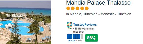 Mahida Palace Thalasso 5 Sterne Hotel bei Monastir von 458 schriftlichen Bewertungen 86% positiv