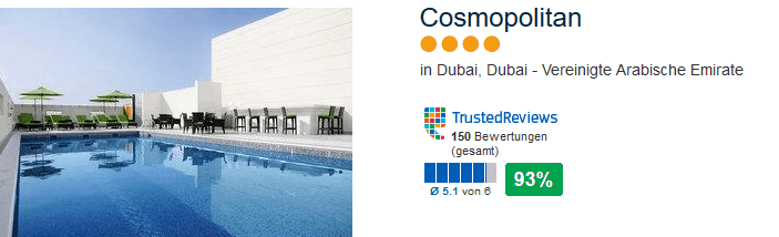 Cosmopolitan Dubai 5 Tage - 4 Sterne nur 269,00€ | Pauschal 1