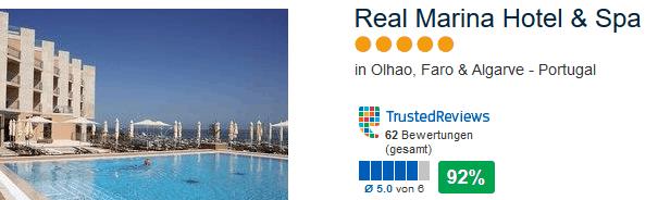 Real Marina Hotel & Spa 5 Sterne 92% positve Bewertungen