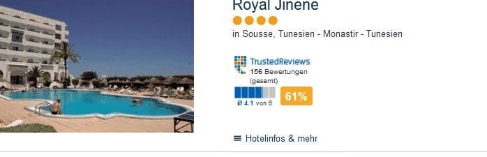 Royal Jinene 4 Sterne Hotel in Tunesien - Urlaub 4 Wochen !