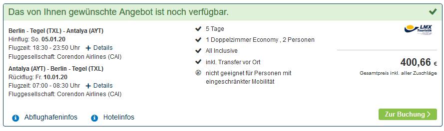 Screenshot Deal All Inclusive Side - nur 200,33€ Türkei Kracher