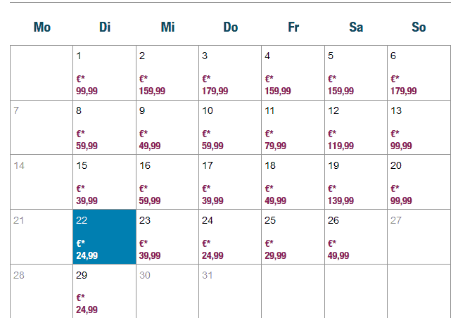 Screenshot Deal Flug ab Saarbrücken nach Palma de Mallorca ab 24,99€