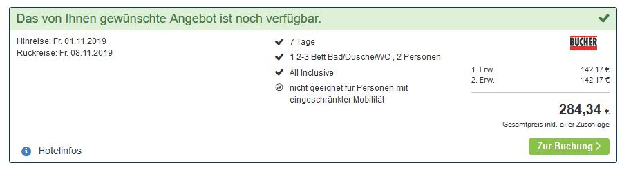 Screenshot Deal Kolberg Urlaub - nur 142,17€ eine Woche All Inclusive Polen