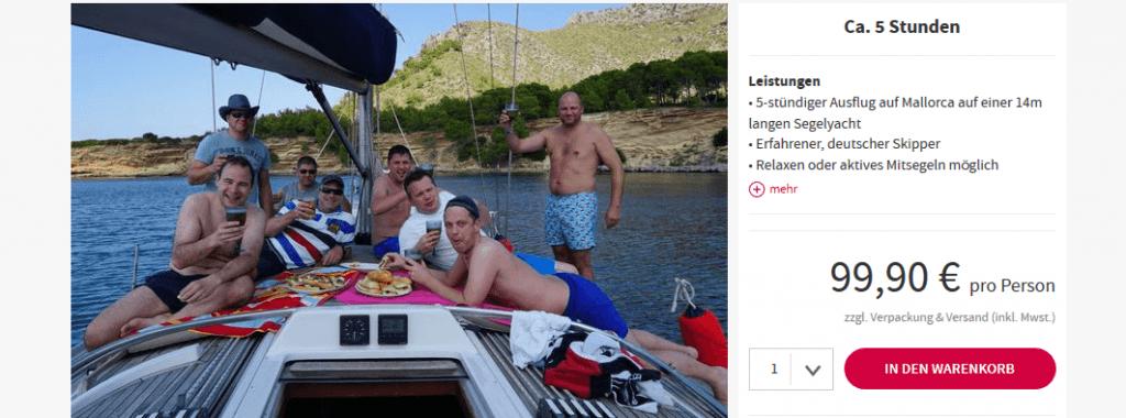 Screenshot Deal Segeltour Alcudia - All Inclusive Privattour nur 99,90€ Mallorca
