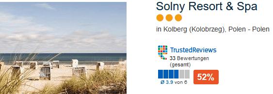 Solny Resort & Spa drei Sterne Hotel direkt an der Ostseeküste Polens