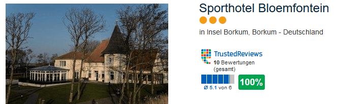 Sporthotel Bloemfontein drei Sterne 100% positive Bewertung