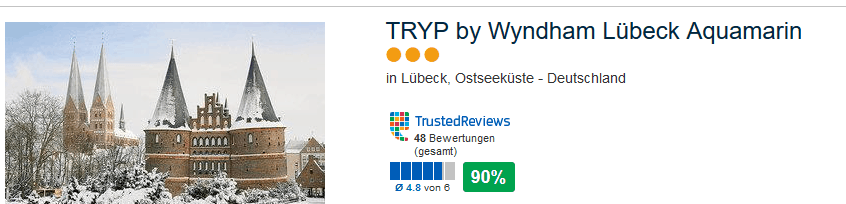 TRYP by Wyndham Lübeck Aquamarin drei Sterne - Städtereisen und Strandurlaub in einem