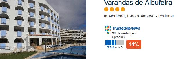 Varandas de Albufeira 4 Sterne Hotel mit All Inklusive Verpflegung zum Tiefpreis