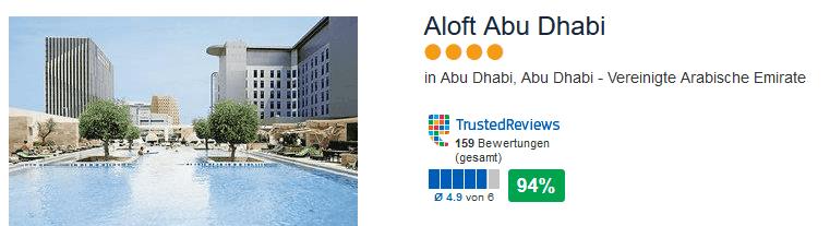Aloft Abu Dhabi - das 4 Sterne Hotel bietet 5 verschiedene Restaurants zur eurer All Inklusive Verpflegung