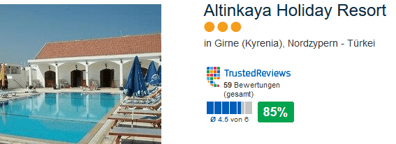 Altinkaya Holiday Resort - drei Sterne Nordzypern Türkei