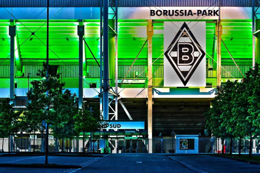 Borussia Park in Mönchengladbach am Niederrhein wird Austragungsstätte der Parti für die Euro 2020 sein