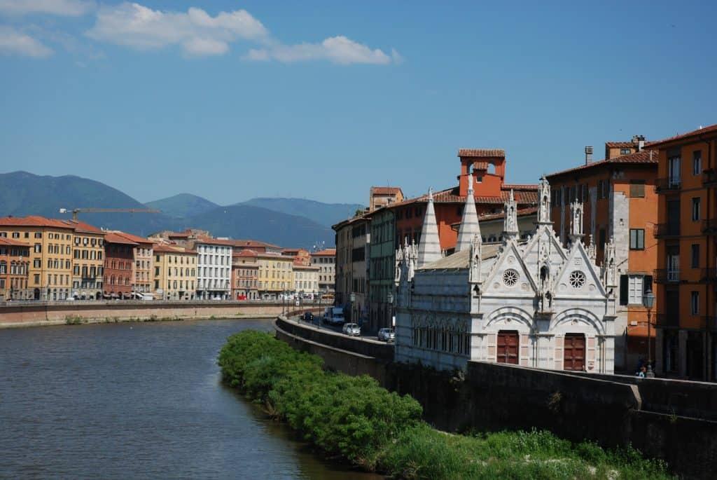 Der Stadtkern der wunderschönen Stadt in der Toskana
