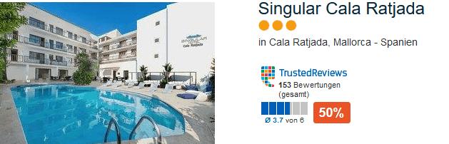 Drei Sterne Hotel Singular Cala Ratjada - direkte Lage am Hafen
