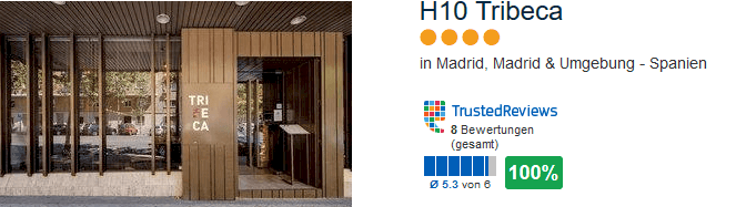 H10 Tribeca 4 Sterne Hotel in Madrid