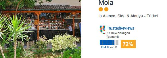 Mola ein gutes zwei Sterne Hotel inklusive Frühstück reich - Flüge und Transfer vor Ort im Preis mit inbegriffen