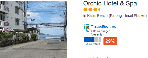 Orchid Hotel & Spa 4,5 Sterne Hotel direkt am Kalim Beach bei Patong