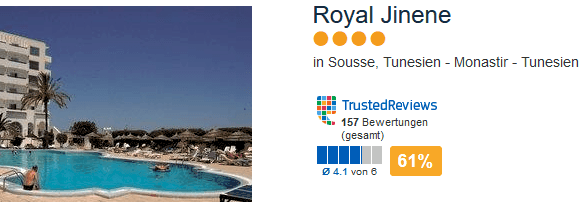 Royal Jinene Hotel Sousse - eine Woche All Inclusive Tunesien - Urlaub in Monastir