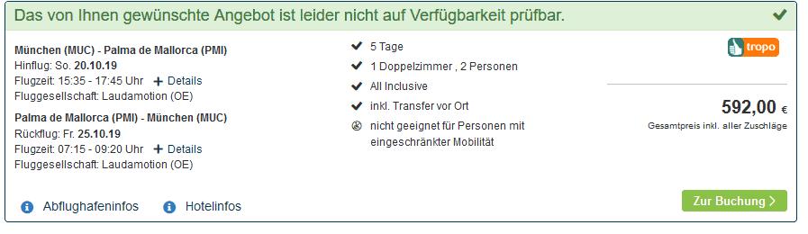 Screenshot Deal MLL Mediterranean Bay - nur 296,00€ All Inclusive Pauschalreise Mallorca