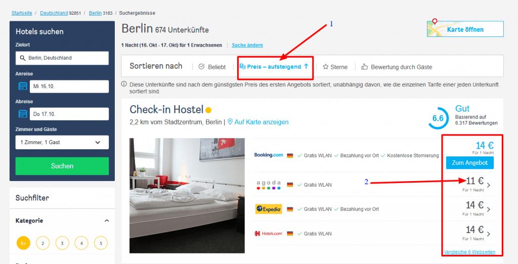 Wo kann man günstige Hotels finden